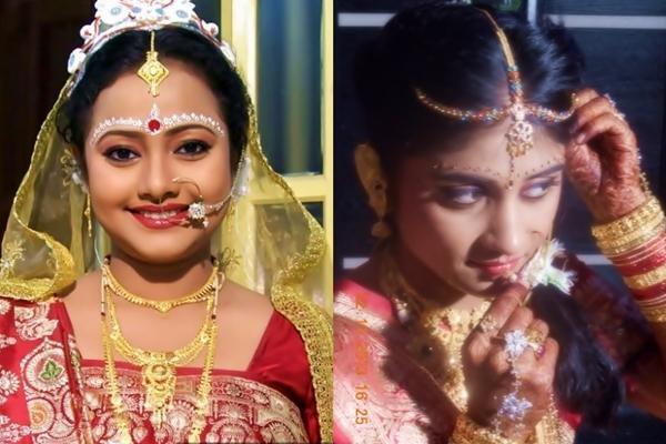 ... bridal make up ...