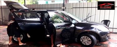 Full car wash + Interior cleaning  + Seat shampoo cleaning + Dash board cleaning + Door pad cleaning + Floor cleaning